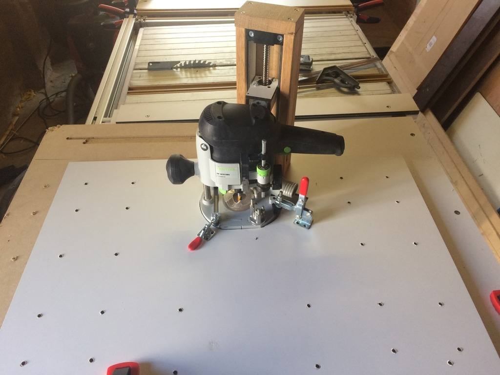 Replacement cms router lift i used a cnc spindle for my router lift i can set it accurately on about 110 of a mm greentooth Images